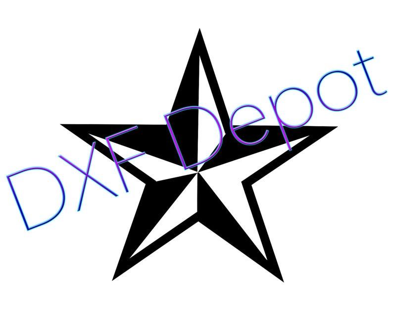 794x635 Nautical Star Dxf Format Cnc Vector Art Clip Etsy