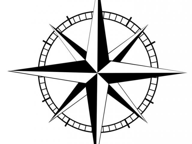 640x480 Nautical Star Drawing With Outline