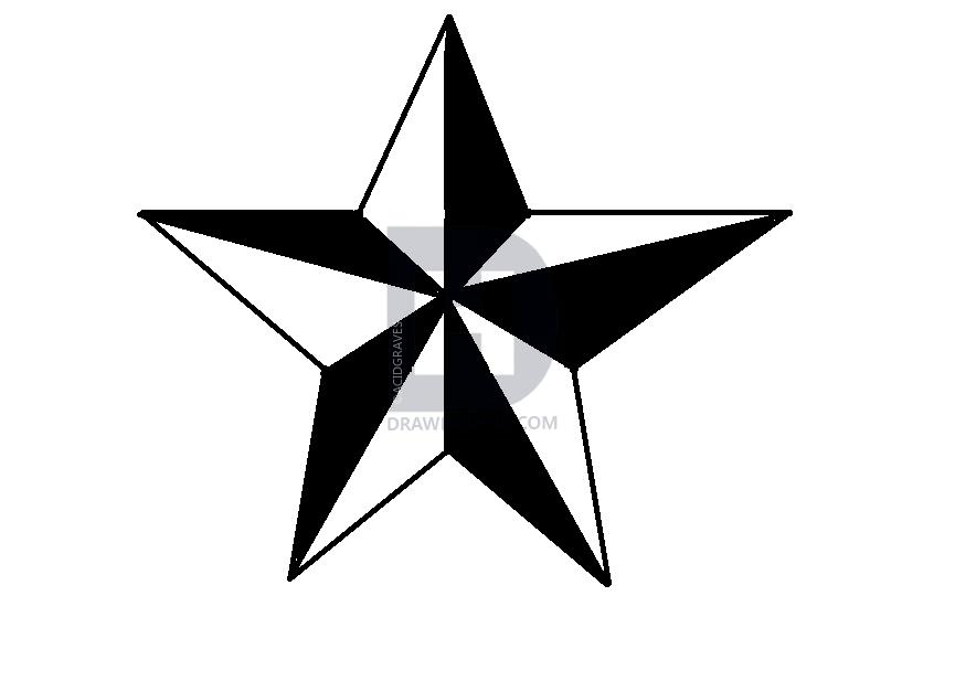 865x617 Nautical Star Drawing