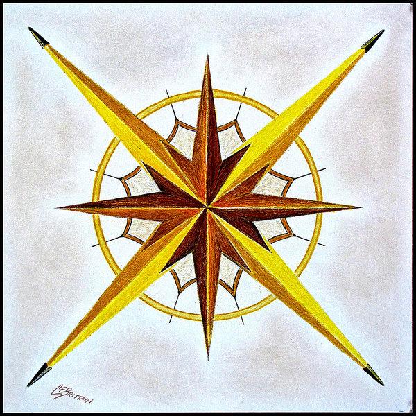 600x600 Nautical Star Drawings Fine Art America