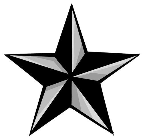 500x485 Nautical Star Outline