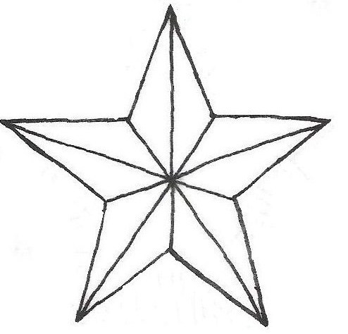 494x474 Christmas Star Drawings Tattoos Ideas And Designs
