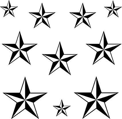 425x416 Ick Vinyl Nautical Star Set Sticker Decal Car Bumper