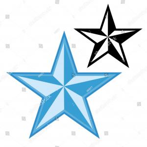 300x300 Best Stock Vector Nautical Star Silhouette Drawing Catchsplace