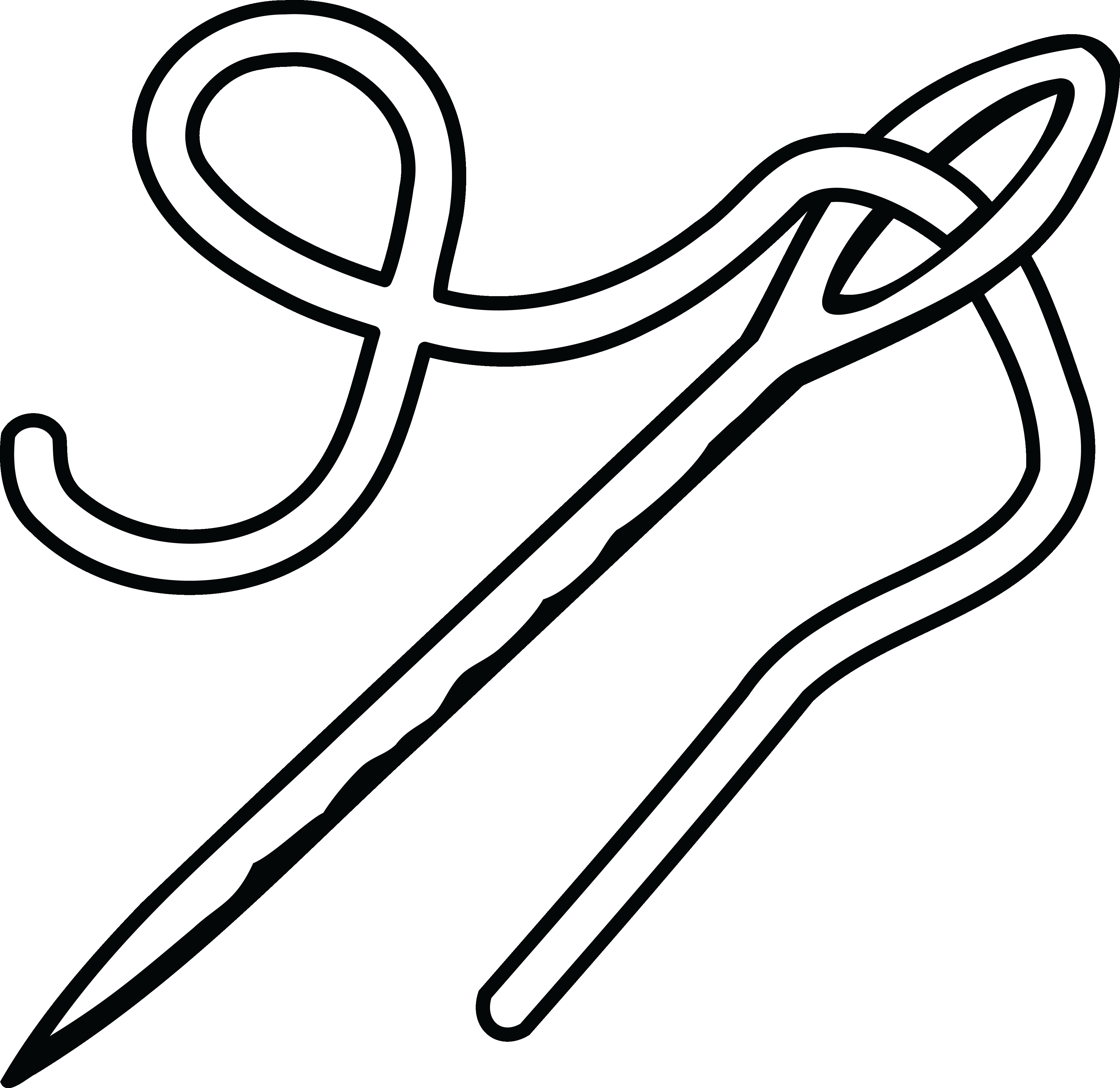4000x3887 free clipart of a needle and thread with needle clipart
