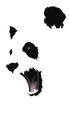 236x395 negative space panda tattoos in panda, panda art, panda