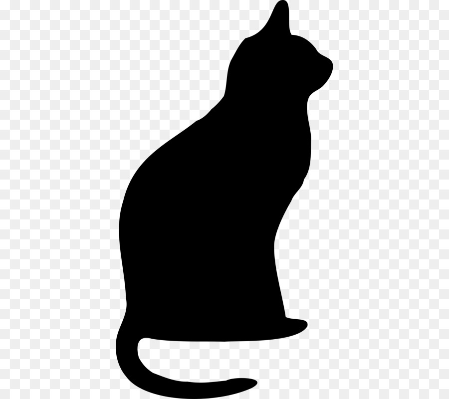 900x800 Cat, Drawing, Silhouette, Transparent Png Image Clipart Free