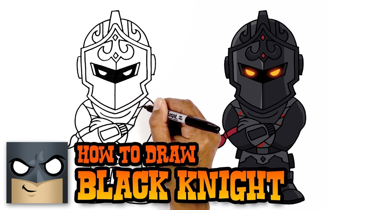 1280x720 How To Draw Fortnite Black Knight