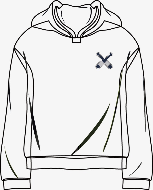 650x809 Sweater Line Drawing, Black And White, Vector, Clothing Png