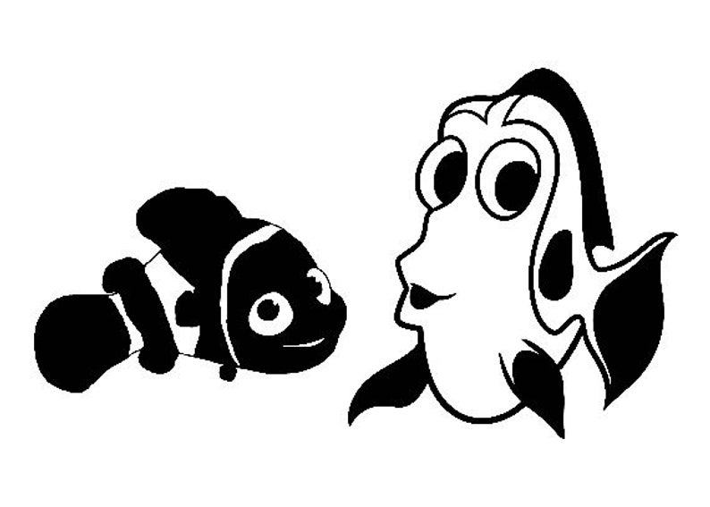 794x567 diy dory and nemo vinyl decal car window decal laptop decal etsy