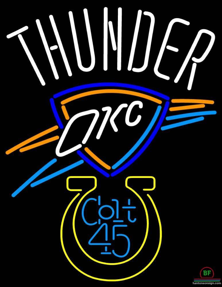 774x1000 colt oklahoma city thunder neon sign nba teams neon light