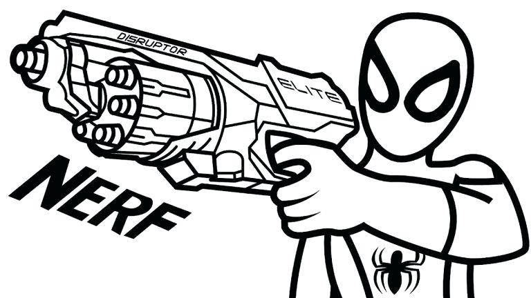 768x432 nerf gun coloring pages gun coloring