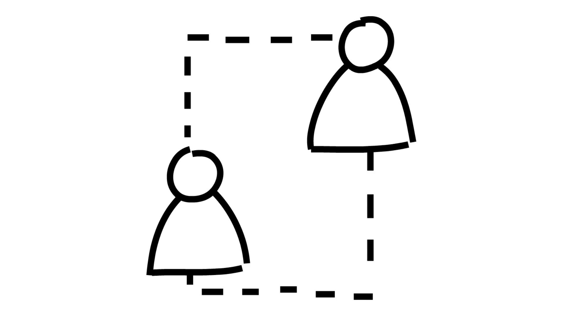 1920x1080 Business Communication Network Line Drawing Illustration Animation