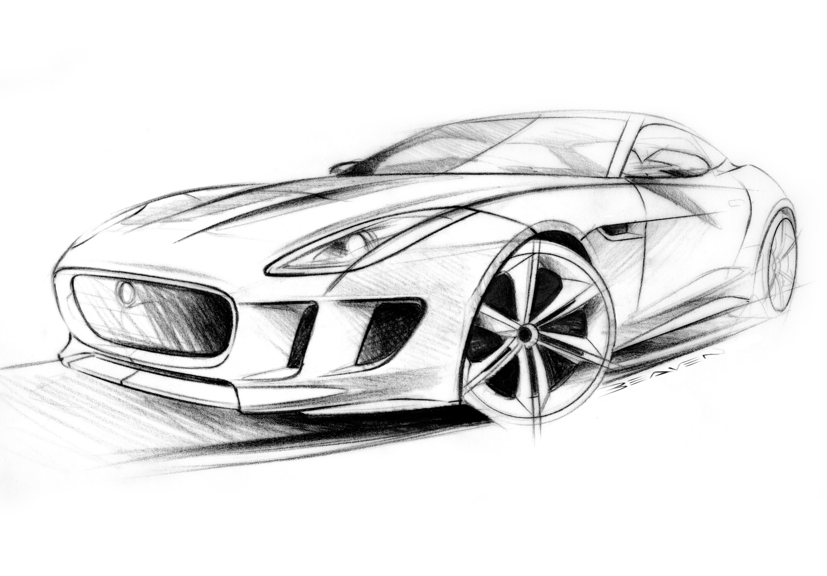 2872x2000 car pencil drawings and pencil sketch of sports new cars pencil