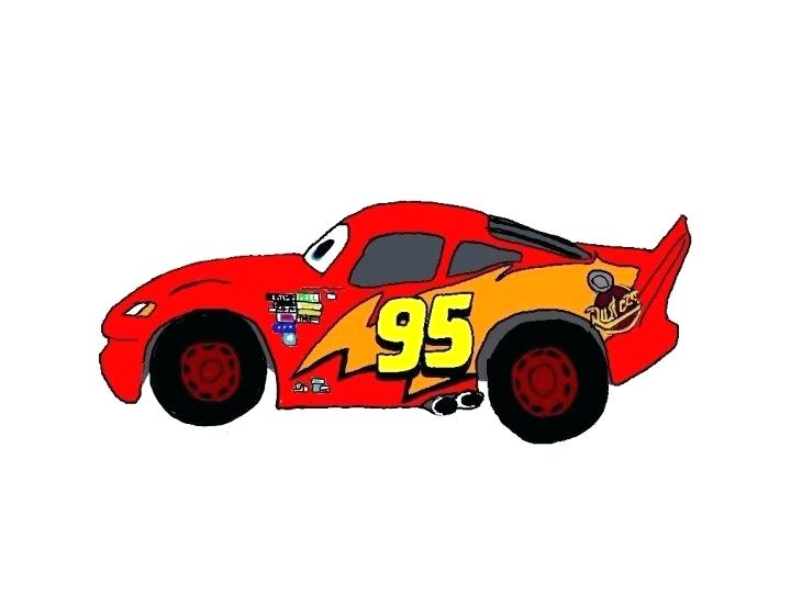 720x540 Lightning Mcqueen Side Profile Lightning Side View Drawing