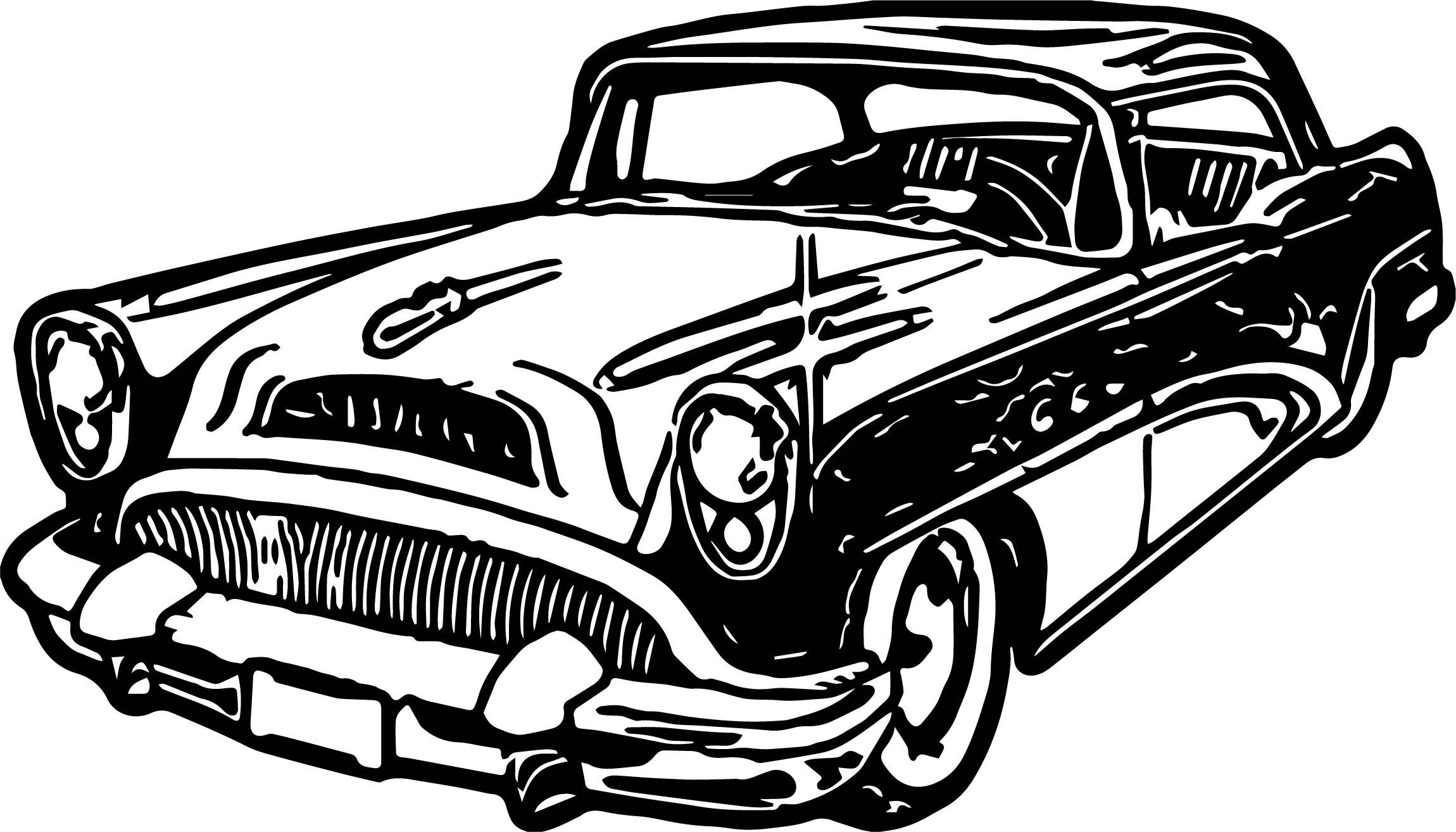 2300x1314 New Car Vintage Antique Coloring