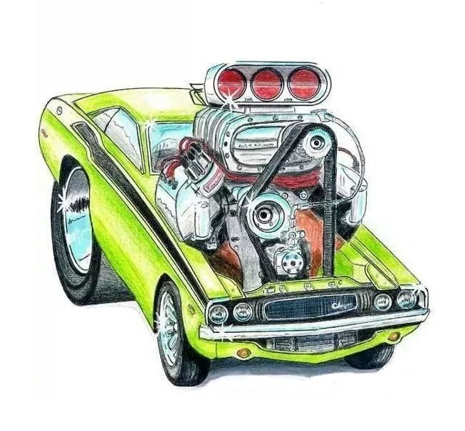 653x606 cartoon hot rod hot rod art muscle cars, car