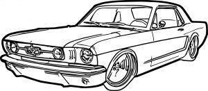 300x131 Big Coloring Pages Of Muscle Cars Announcing Brawny Car