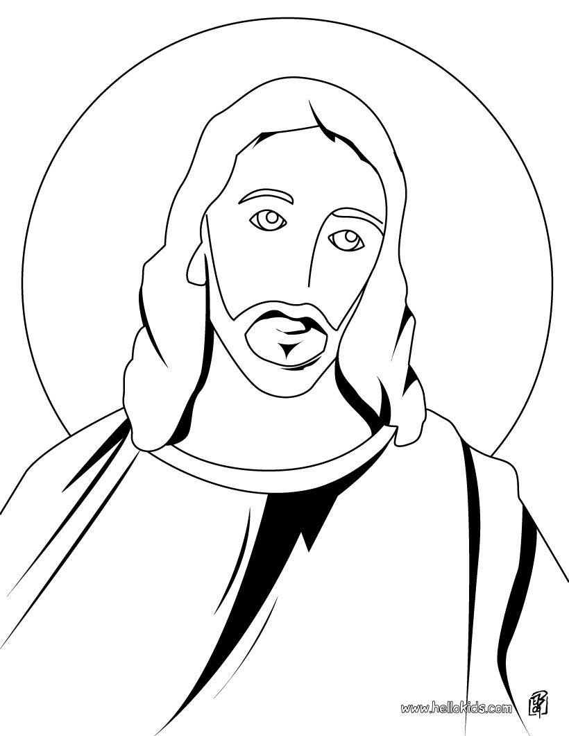 820x1060 Jesus Drawing Free Download