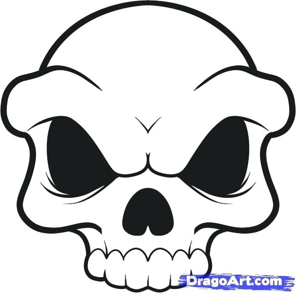 595x588 Easy To Draw Skulls Easy Draw Skulls