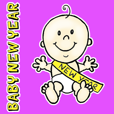 400x400 How To Draw Baby New Year With Easy Steps