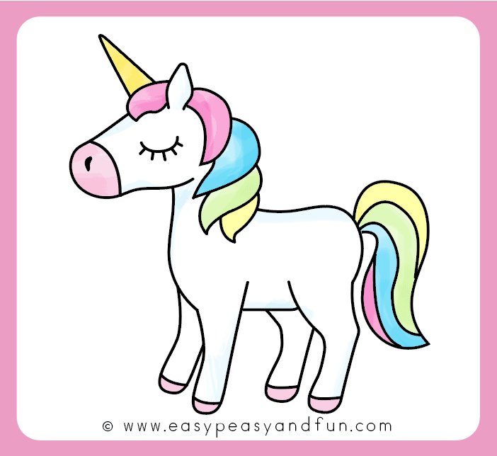 702x644 How To Draw An Unicorn