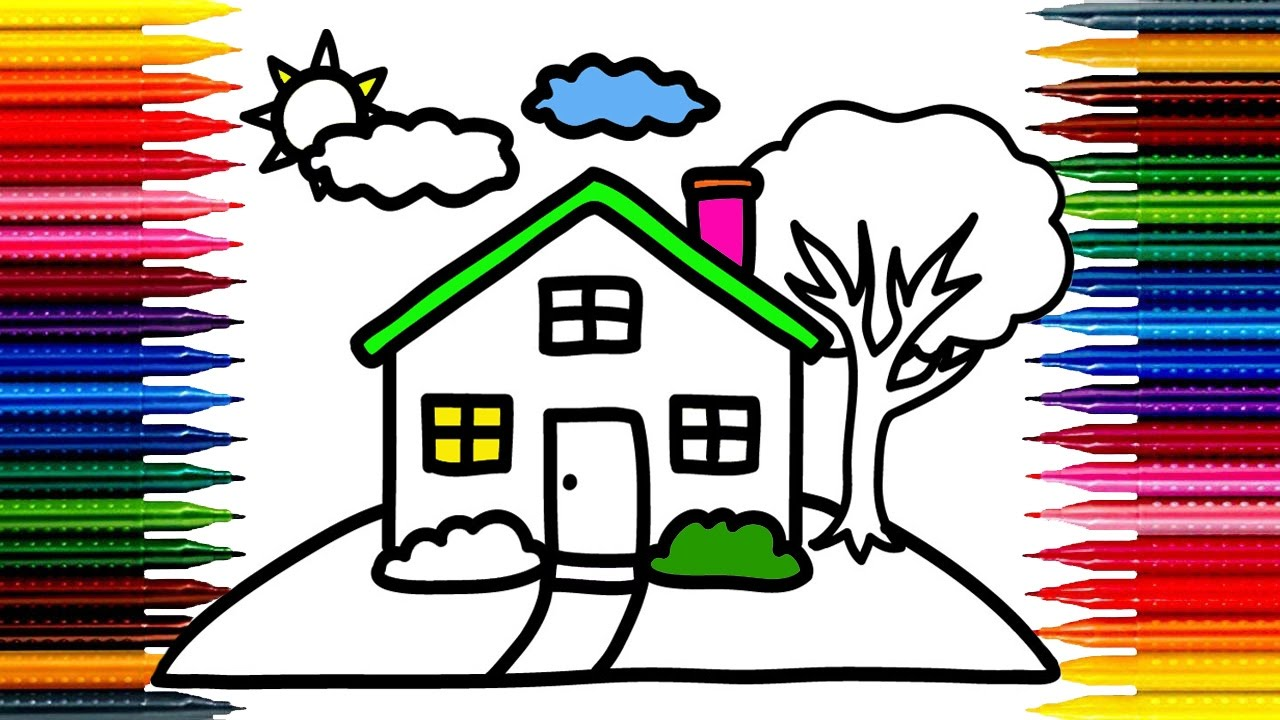 1280x720 Crammed Simple Drawings For Children How To Draw A House Drawing