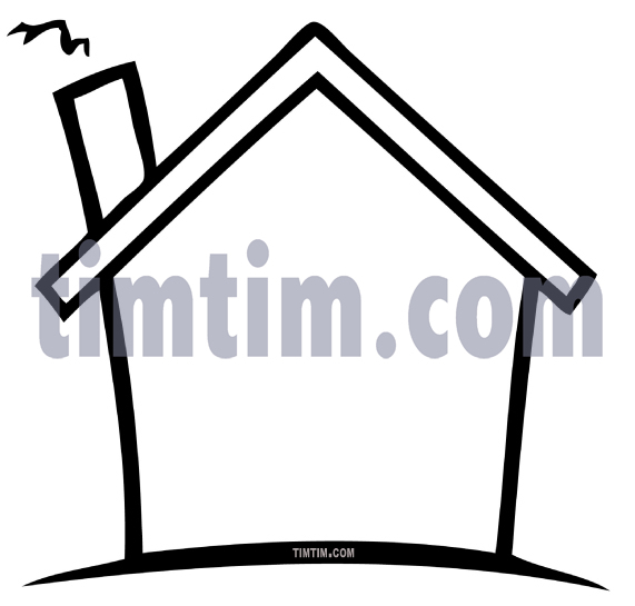 571x545 Free Drawing Of A House Blank Bw From The Category Building Home