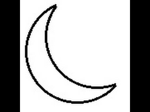 480x360 How To Draw Moon Step
