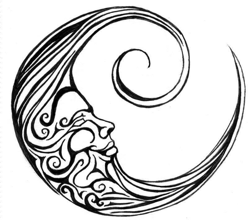 800x712 New Moon Tattoo Stencil Tattoo Ideas