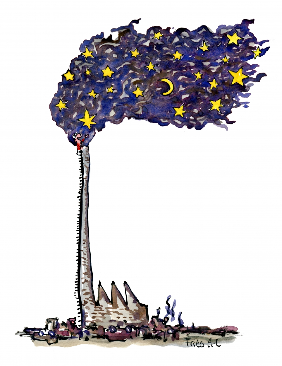 964x1250 Dream Star Factory Making New From Old Vision Illustration