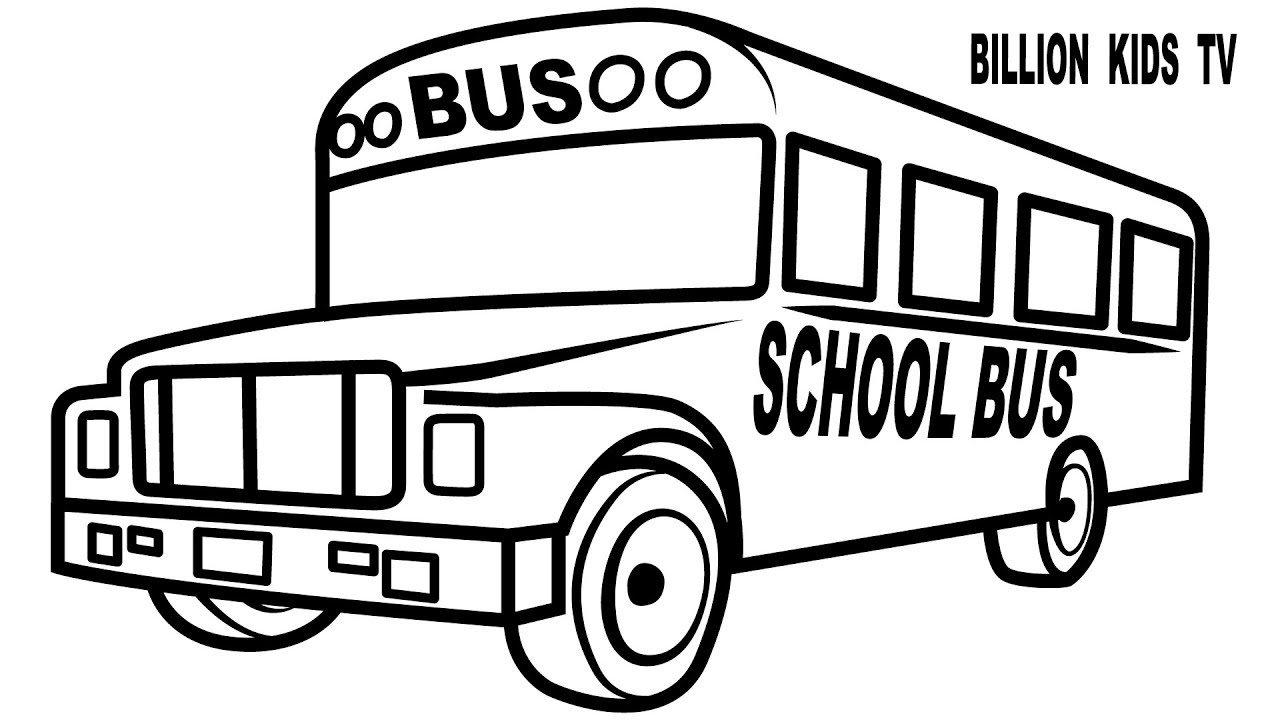 1280x720 New How To Draw School Bus For Baby Drawings And Coloring Pages
