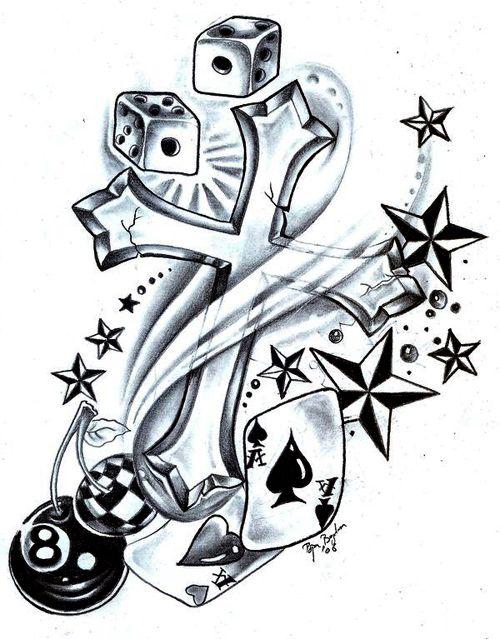 500x639 New School Tattoo Flash And Art