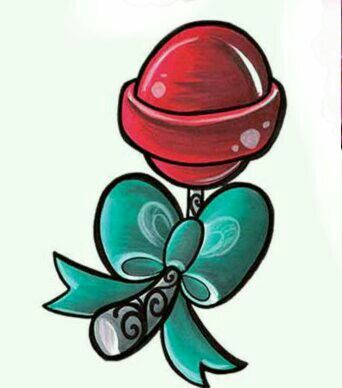 342x388 New School Lollipop Tattoo Addiction Tattoo Design Drawings