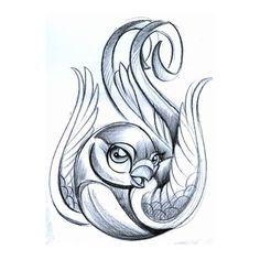 236x236 Cute New School Tattoo Designs