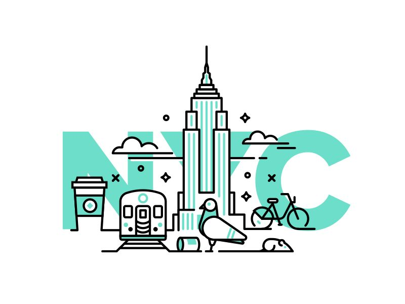 800x600 new york city dribbble city icon, city illustration, city logo