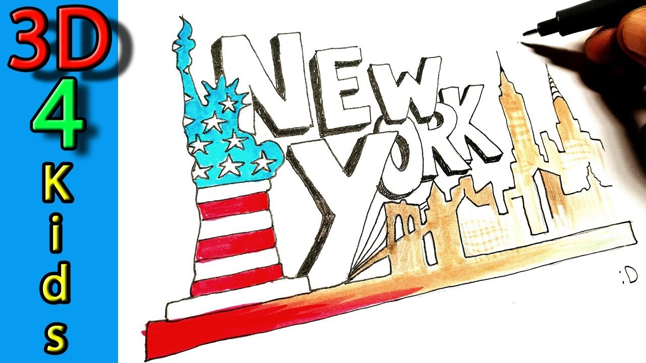 1280x720 How To Draw The Skyline Of New York !
