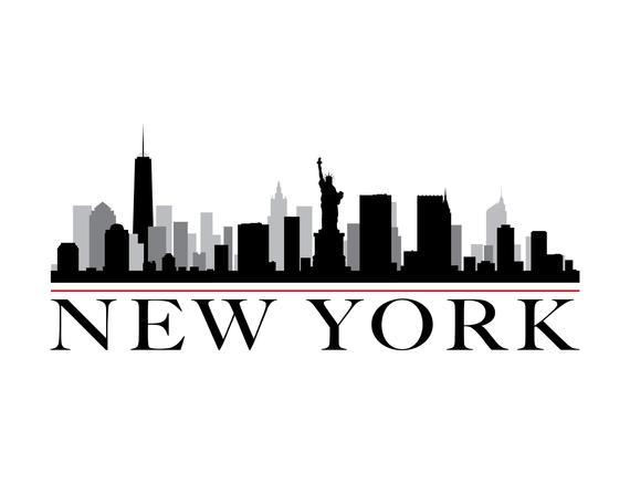 570x448 New York City Skyline Diy Printable Wall Art New York Etsy