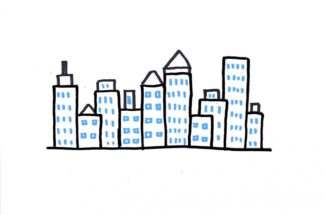 1084x717 New York City Skyline Drawing Abstract Night Tutorial Easy Cities