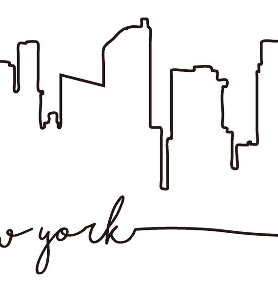 570x588 New York Skyline Drawing Easy Jerusalem House