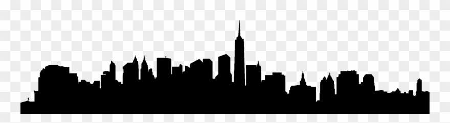 880x241 City Skyline Silhouette Vector Free Download