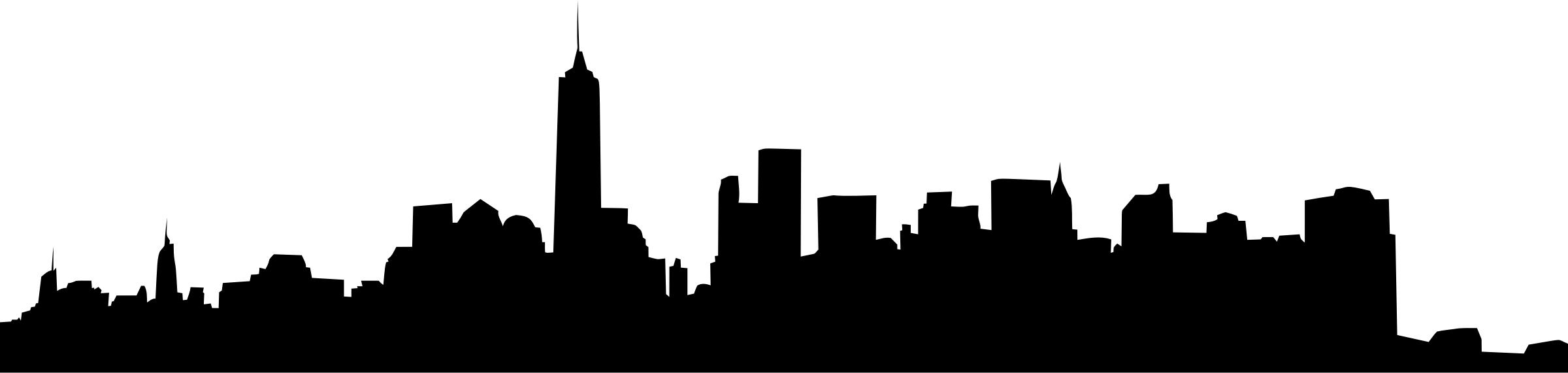 2400x571 Collection Of 'new York Skyline Silhouette' Download More Than