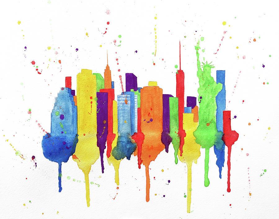 900x707 New York City Skyline Painting
