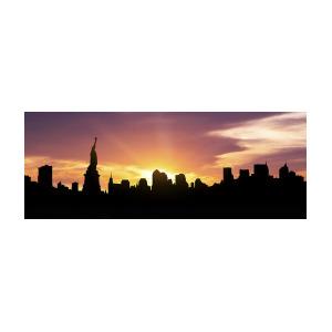 300x300 New York Skyline Panorama Sunset Photograph