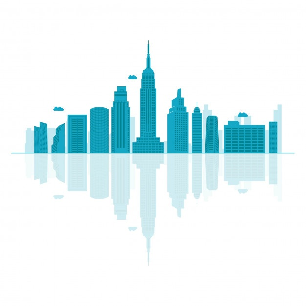626x626 New York Skyline Vector Free Download