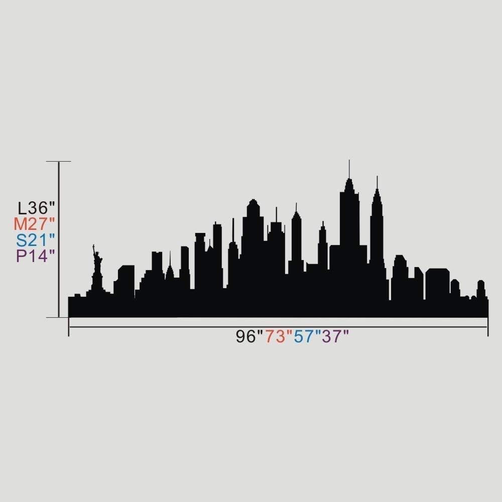 1000x1000 New York City Skyline Wall Sticker Vinyl Ctiy Wall