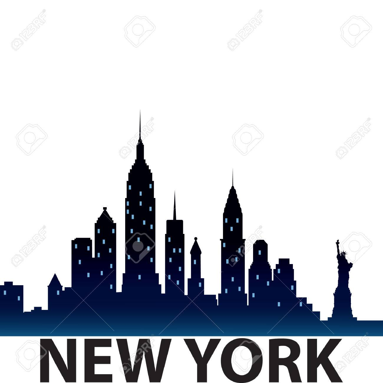 1300x1300 Huge Collection Of 'new York Cityscape Silhouette' Download More