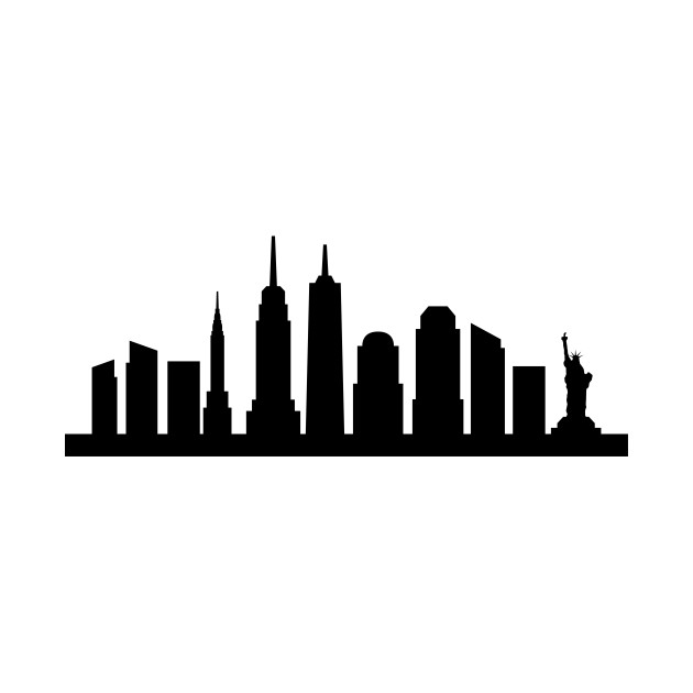 630x630 Huge Collection Of 'new York Skyline Black And White Silhouette