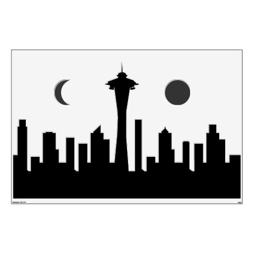 512x512 Seattle Skyline Outline Free Download Clip Art