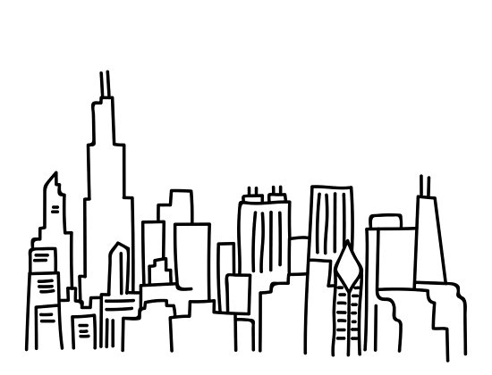 550x420 Skyline Outline